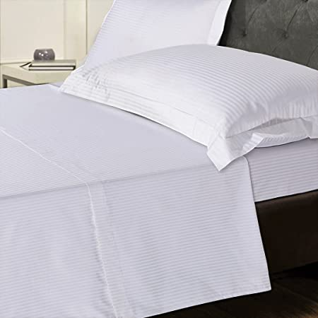 Exceptional Linen Zone 800 Thread Egyptian Cotton 5 Star Hotel Quality Deep Fitted Bed  Sheet, Double