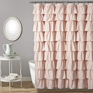 Lush Decor, Blush Ruffle Shower Curtain, 72