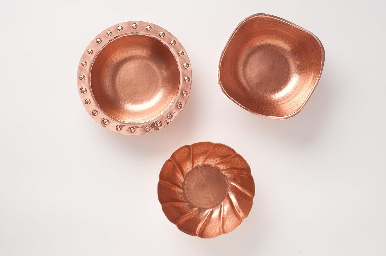 7 inch diameter Hand Hammered 100/% Pure Copper Aphrodite Bowl Sertodo Copper