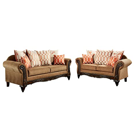 Amazon.com: Muebles de América berberich sofá de 2 Piece Set ...