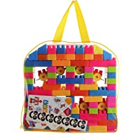 FashionandBeads Building Blocks Toy with a Packing Bag for Kids,Age 2+(Multicolor) - Set of 141Pcs