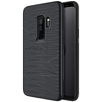 NILLKIN Funda Samsung Galaxy S9 Negro Delgado Flexible Suave TPU Cover Carcasa Funda para Samsung Galaxy S9+,Hoja de Metal Incorporada,Compatible con ...
