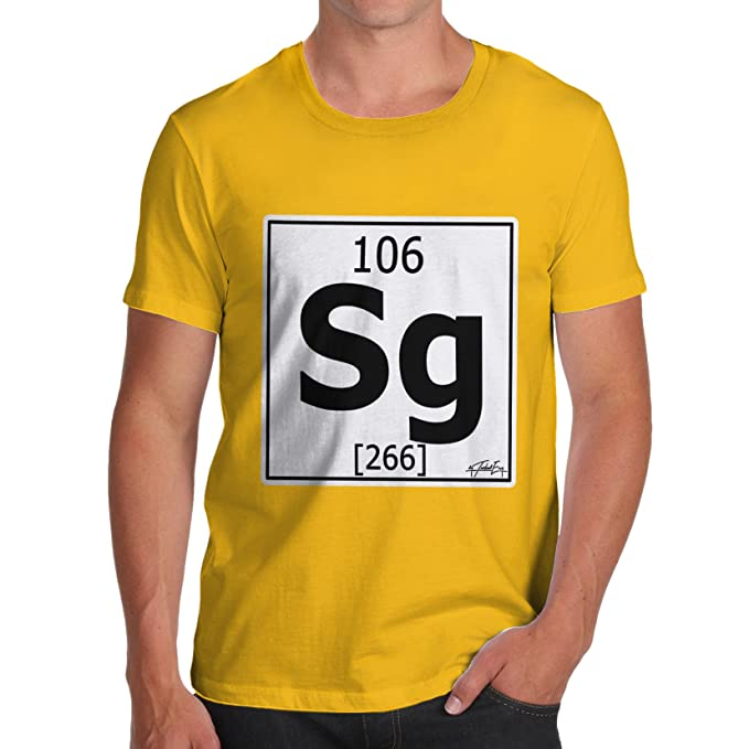 Amazon Twisted Envy Mens Periodic Table Element Sg Seaborgium