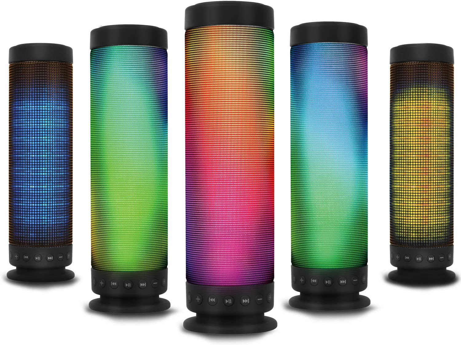 KOCASO [Portable] Bluetooth 8.8 [LED] Rainbow Dancing [Wireless Speaker]  Hands-Free Calling, Built in Mic [Heavy Bass] For iPhone 8/8s/8 Galaxy