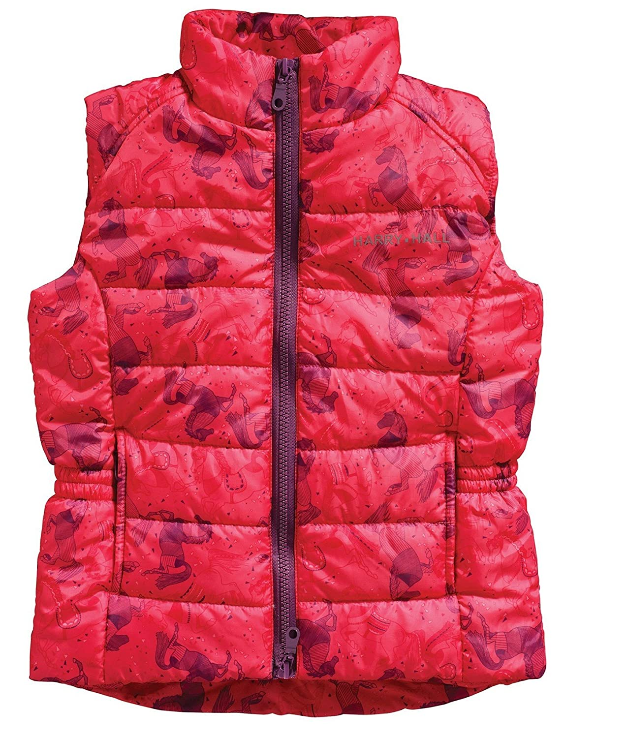 Harry Hall Cubley Junior Gilet Blue (3/4 years, Pink) HH4866