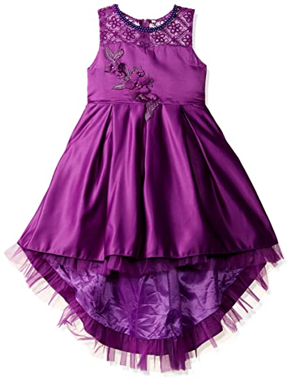 f649ded51ecda0 Si Rosa by Hopscotch Girl s Cute Floral Applique Sleeveless Party Dress  (SRS-1798318