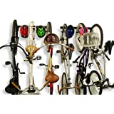 Koova Wall Mount Bike Storage Rack Garage Hanger for 6 Bicycles + Helmets | Fits All Bikes Even Large Cruisers/Big Tire Mount
