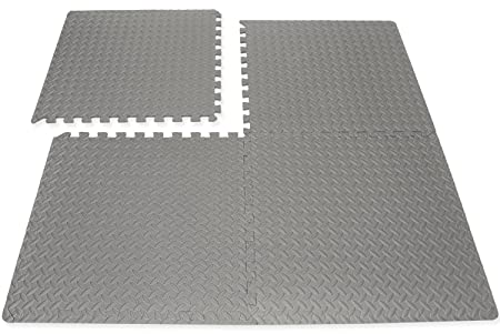 Hausen interlocking soft eva foam mats kids play garage gym floor
