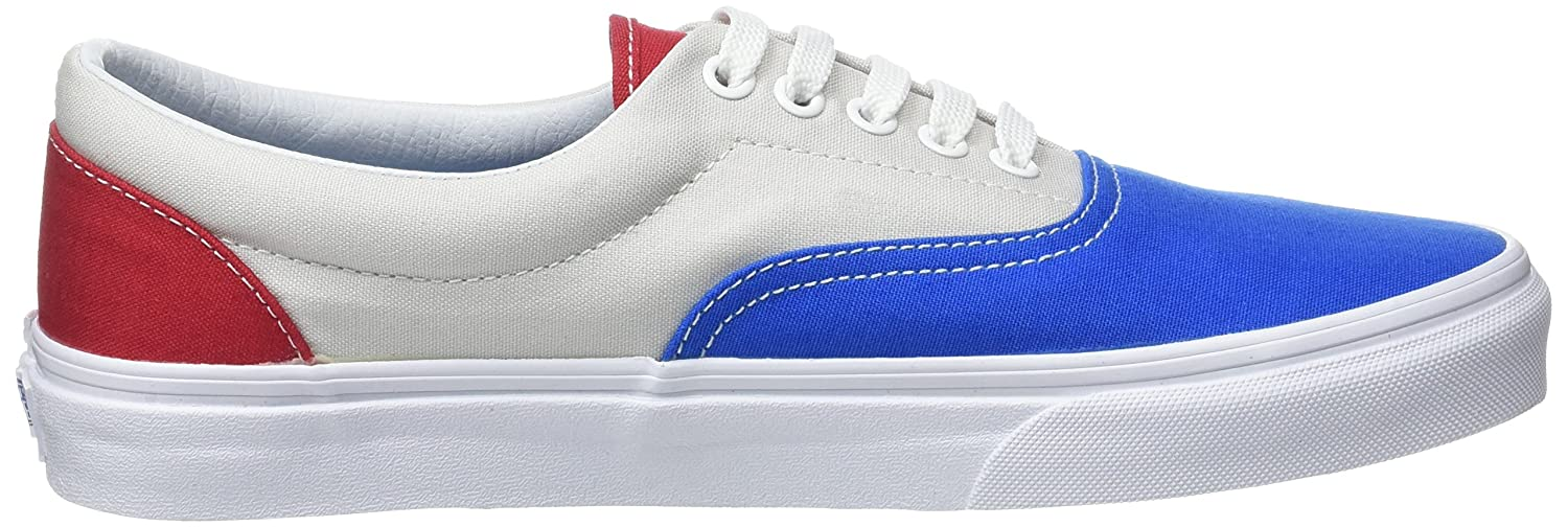 Vans Unisex Era Skate Shoes, Classic Low-Top Lace-up Style in Original Durable Double-Stitched Canvas and Original in Waffle Outsole B01I2AXIWQ 8.5 B(M) US Women / 7 D(M) US Men |Blue/Gray/Red aa7b5b