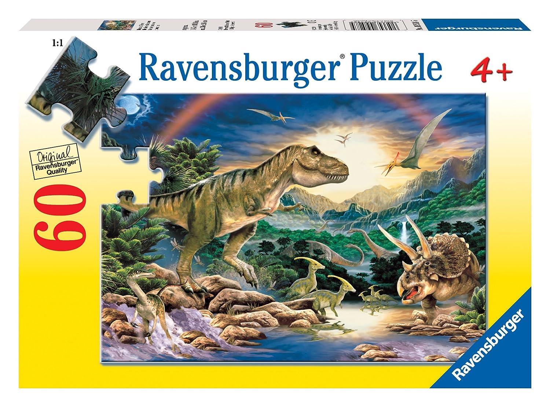amazon com ravensburger dinosaur times 60 piece puzzle toys