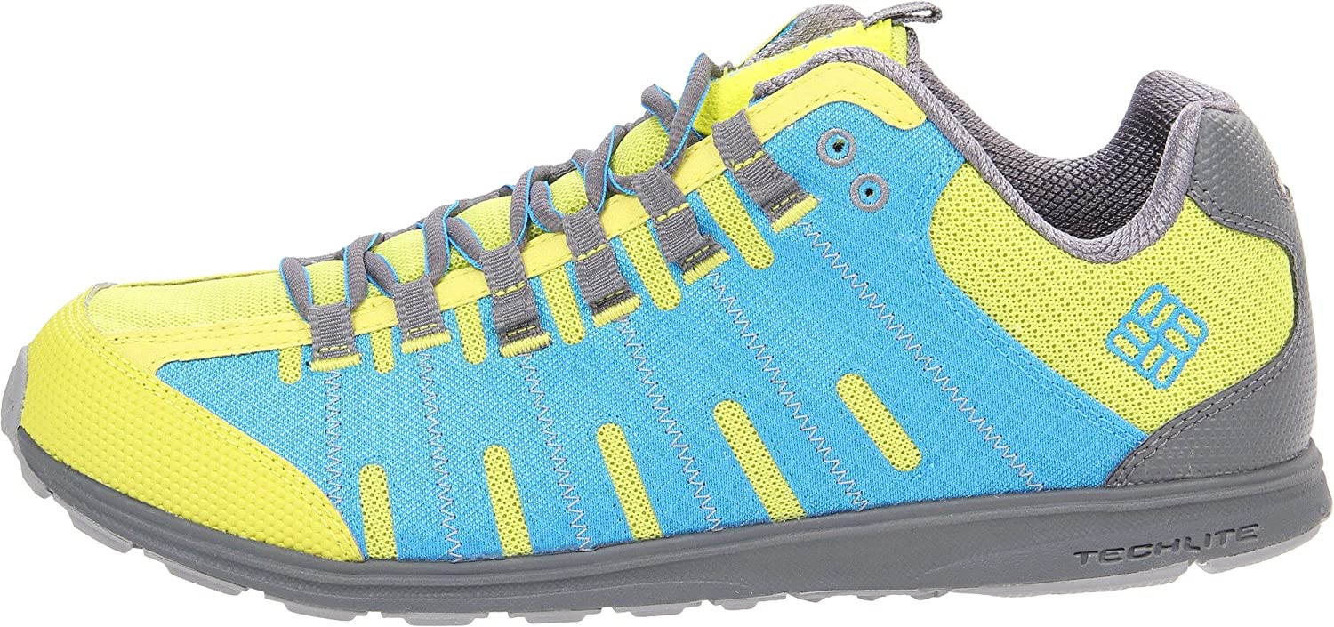Columbia Mens Master Fly Trail Shoe Chartreuse//Compass Blue 8.5 M US Master Fly-M