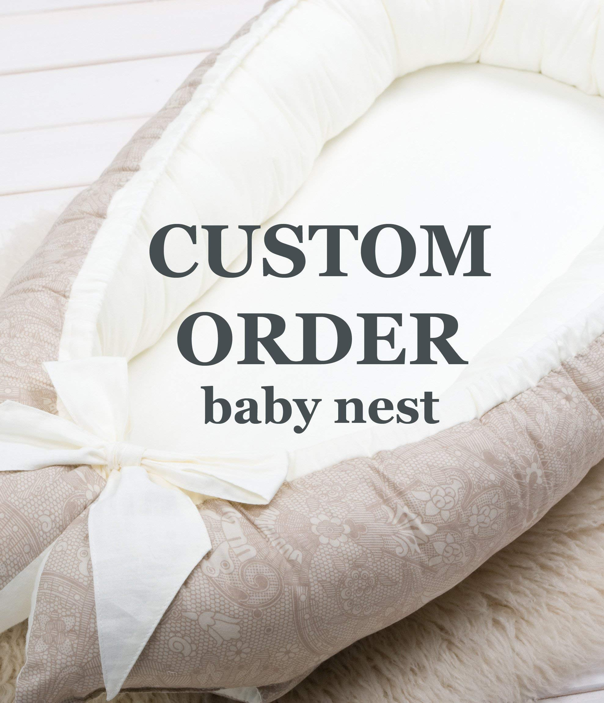 Custom order for the double sided Baby nest bed, portable crib lounger baby bassinet co sleeper babynest babynest bed travel pad pod for newborn