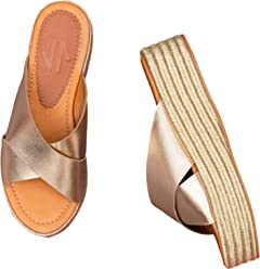 VIDALeather Mule Platform Sandals for Women | Zapatos Altos De Mujer