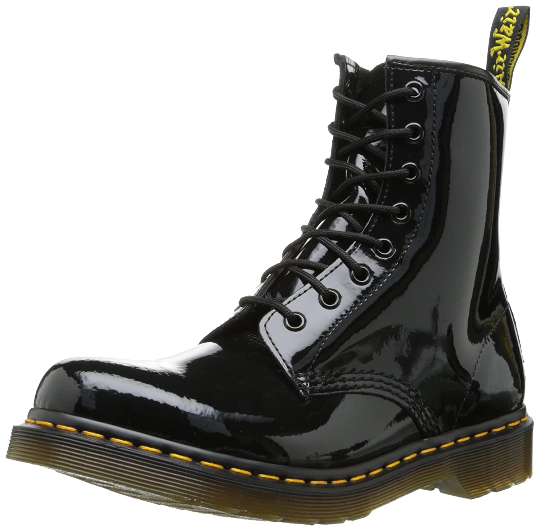 New Womens/Ladies Dr Martens Black Patent Leather Dm1460 Lamper Boots -  Black Patent - UK SIZE 7: Amazon.co.uk: Shoes & Bags