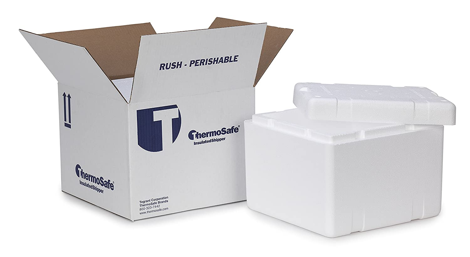 Amazon.com: Thermosafe 413 Cold Insulated Shipping Box Container ...