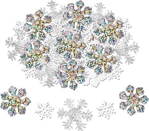 Invierno Confeti Navidad Iridiscente para Fiestas navide/ñas Decoraciones cumplea/ños Fiestas de a/ño Nuevo Bodas HOWAF 80g Copos de Nieve Artificiales