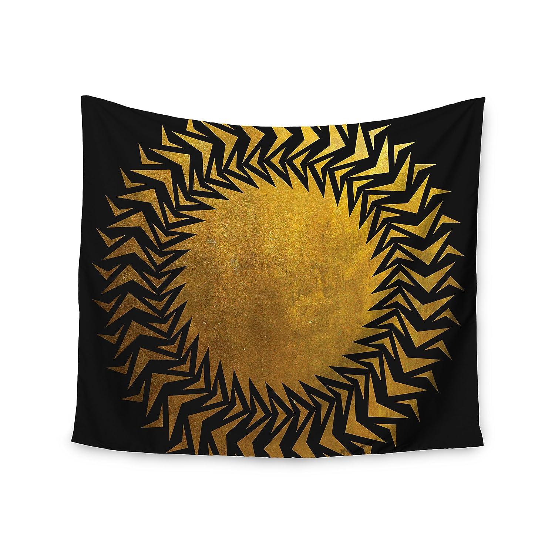 51 x 60 Kess InHouse Matt Eklund Gilded Chaos Gold Geometric Wall Tapestry
