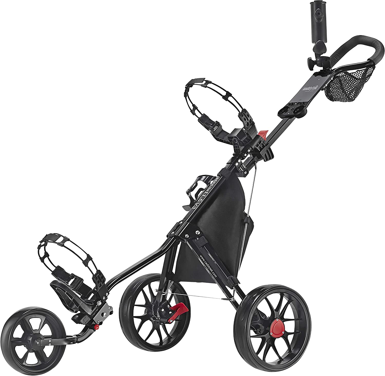 Caddytek 3 Wheel Golf Push Cart - Lightweight, Close Folding Push Pull Caddy Cart, Easy to Open - CaddyLite 11.5 V3