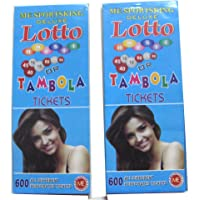 ARTBOX Housie Tambola /Lotto 1200 Tickets with 2 Set of 600 Each, Large (Multicolour)
