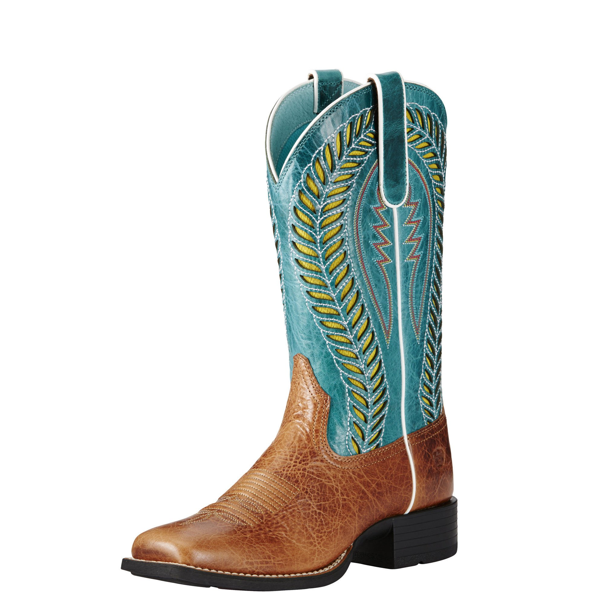 Ariat Women's Quickdraw Venttek Western Cowboy Boot, Gingersnap, 7 B US