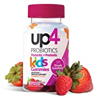 up4 Kids Probiotic Gummies | Digestive and Immune Support | Gelatin-free, Vegan, Non-GMO | With prebiotic and vitamin C | For ages 3+ | 30 count
