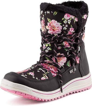 Neu Damen Schnee Boots Stiefeletten Schlupf Stiefel Warm Gefüttert 1952 Schuhe
