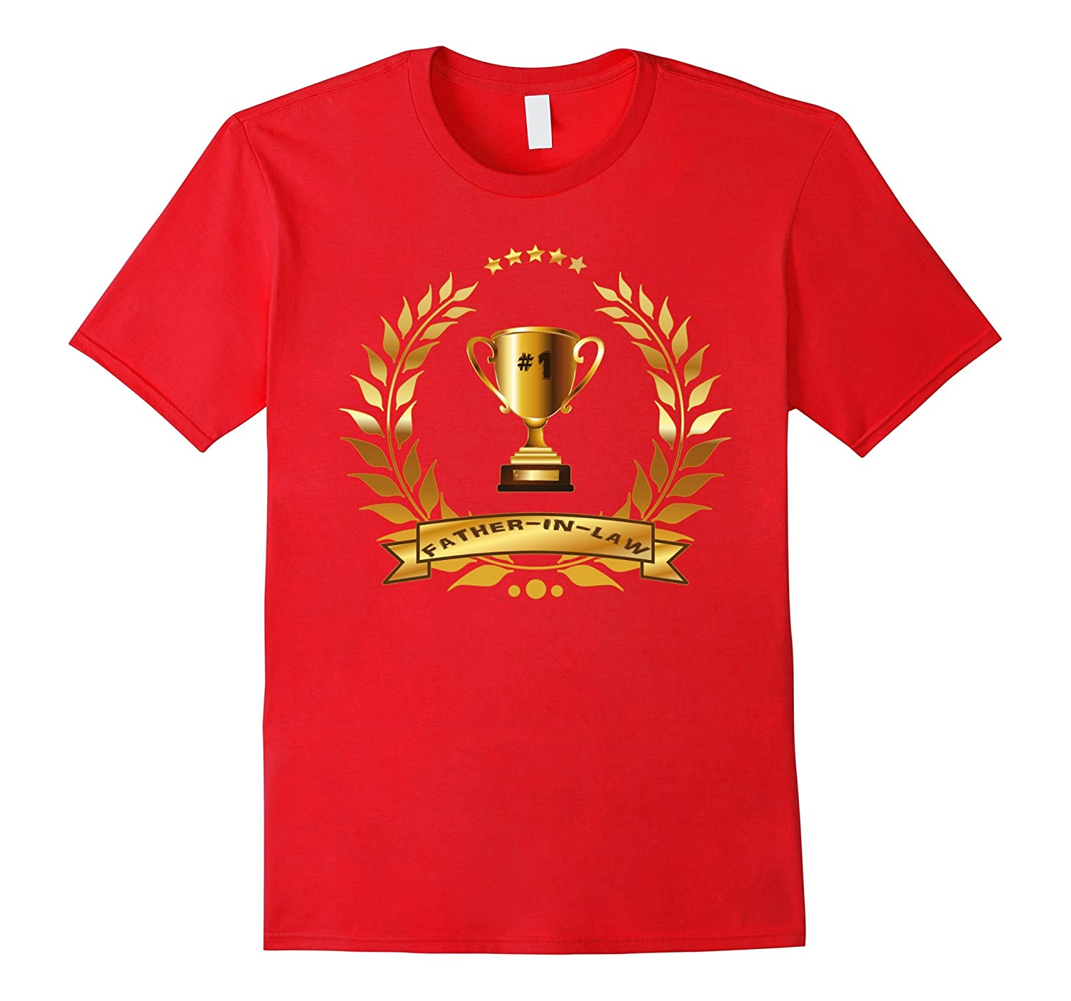 #1 Father-In-Law Tee With Trophy Gift For Best Father-In-law