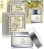 Jasmine Facial Butter Dry Skin Kit - 100% Natural Face and Neck Moisturizer 1.7 oz & Soap 3.4 oz - Shea, Cocoa, Coconut, Olive, Jojoba & Almond Oils Blend Care Set