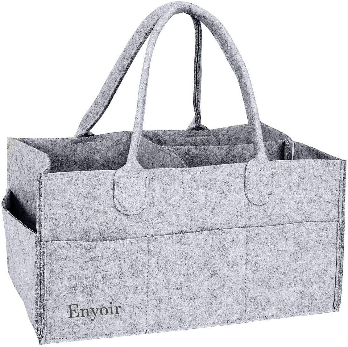 cesta de almacenamiento port/átil con compartimentos intercambiables Enyoir gris oscuro Organizador plegable para pa/ñales de beb/é
