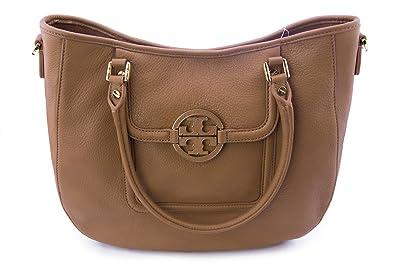 096441a04b29a Amazon.com  Tory Burch Amanda Classic Handle Leather Hobo Shoulder Bag  Crossbody (Royal Tan)  Shoes