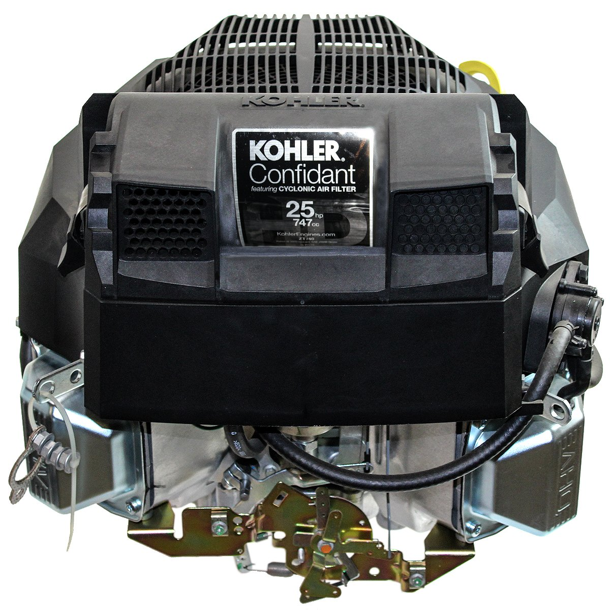 Kohler 25hp Confidant, Vertical 1-1/8'' x 4-3/8'' Shaft, OHV, Electric Start, 15 Amp Alt, Fuel Pump, Oil Filter, Remote Choke, Engine