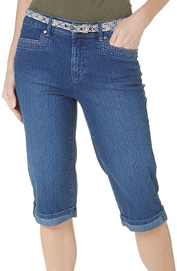 d809b8f788ef0a Gloria Vanderbilt Womens Marnie Vintage White Stretch Denim Skimmer Capris  New at Amazon Women's Jeans store