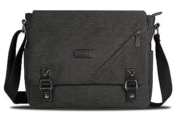 Amazon.com: ibagbar - Bolso bandolera de lona para ordenador ...