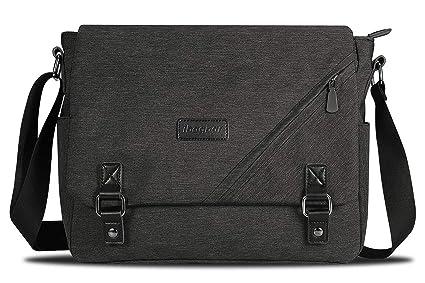 363242e7c7a2 ibagbar Water Resistant Messenger Bag Satchel Shoulder Crossbody Sling  Working Bag Bookbag Briefcase Fits 14 Inch Laptop for Men and Women