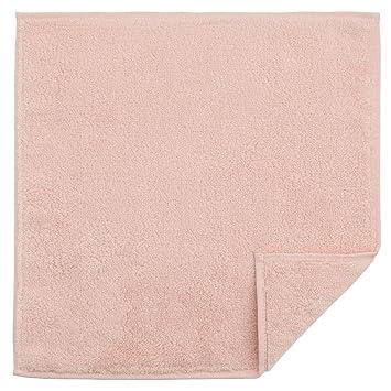 無印良品 オーガニックコットンやわらかタオルハンカチ 25×25cm・ピンク
