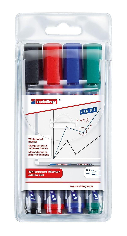 Assorted edding 360 Boardmarker Bullet Tip Pack of 4