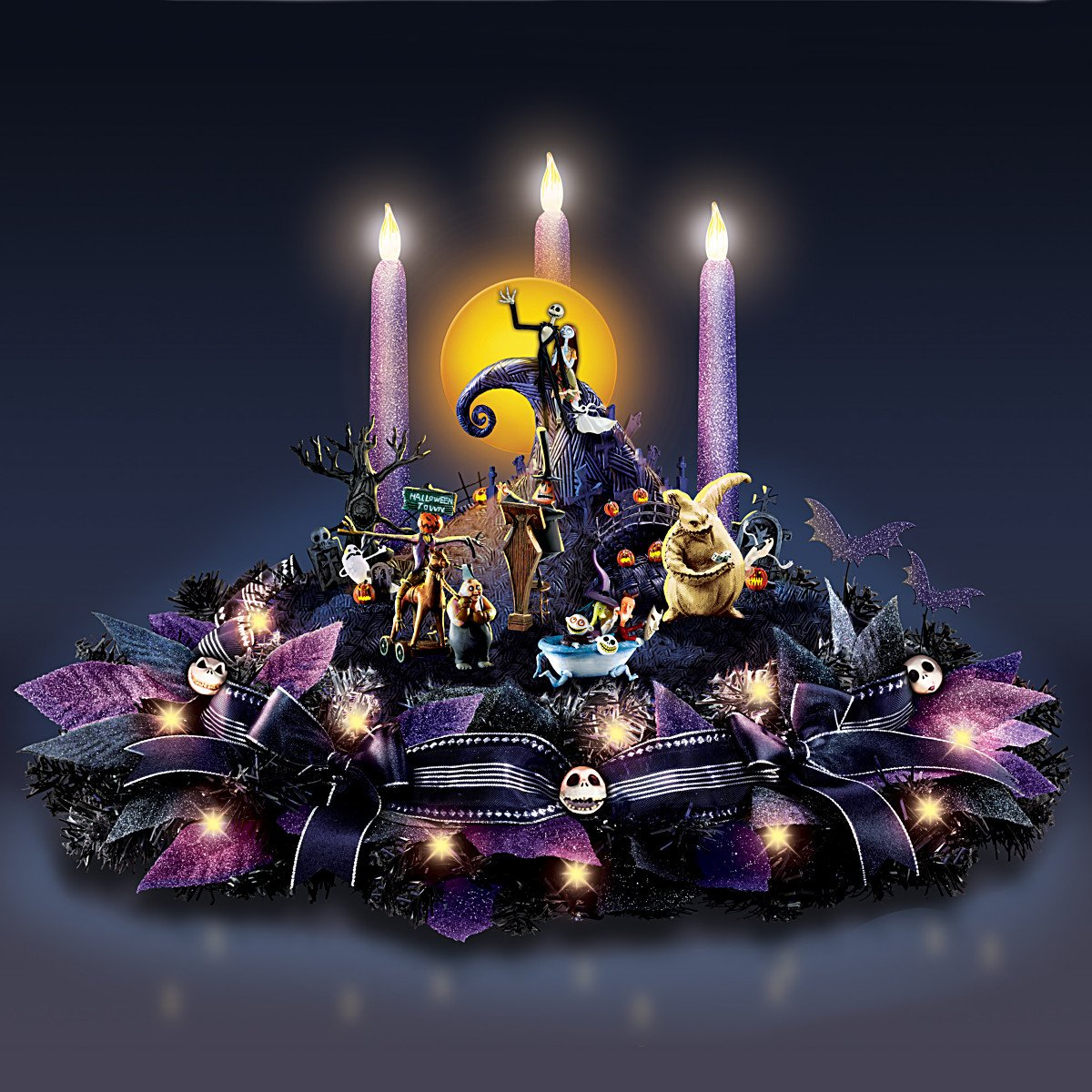 Amazon.com: Disney Nightmare Before Christmas Floral Centerpiece ...