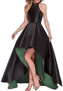 Homdor High Low Off The Shoulder Prom Dresses Long Satin Evening