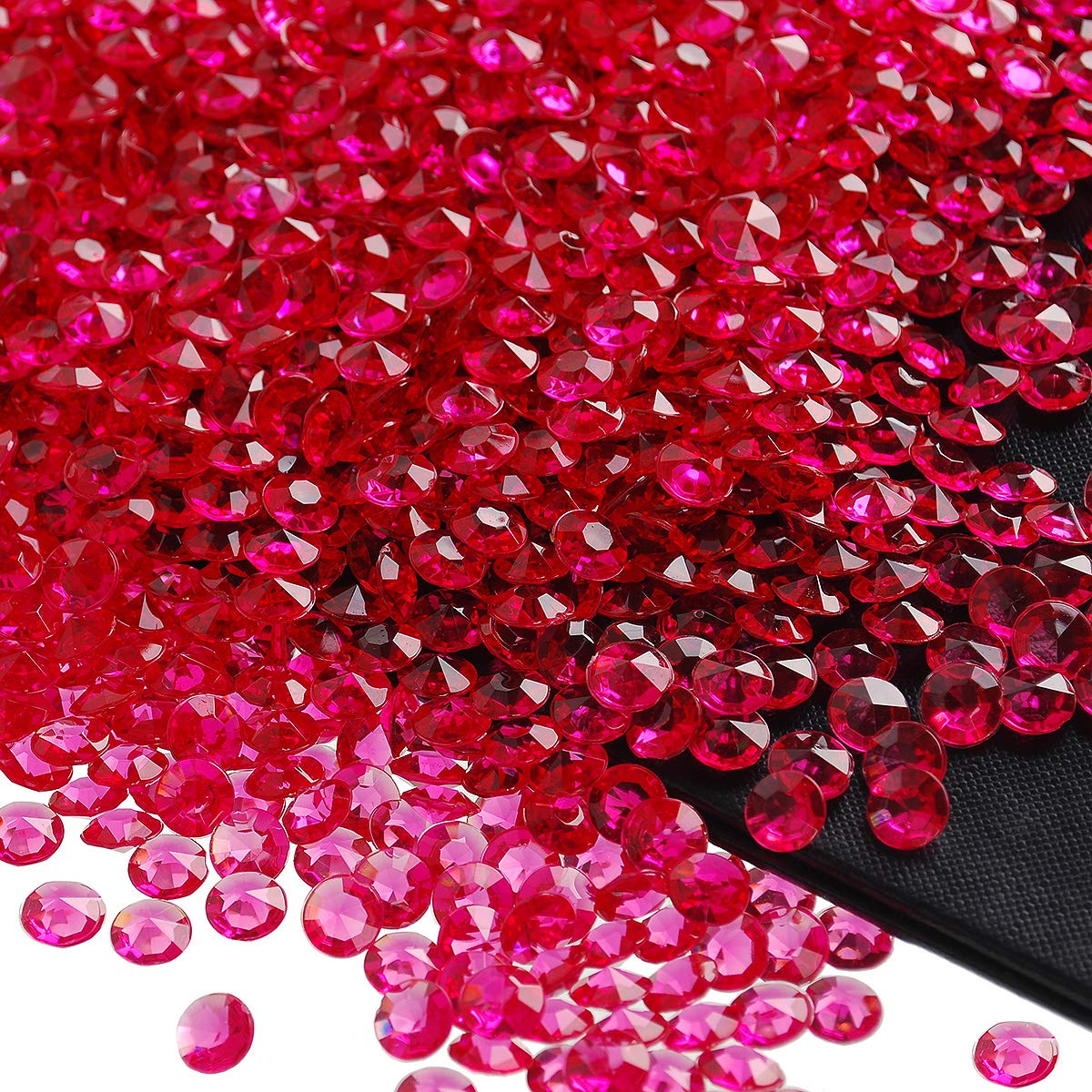 craftjoje 4.5MM 10000pcs Wedding Table Scattering Crystals Acrylic Diamonds Wedding Bridal Shower Party Decorations Vase Fillers 4.5mm, Burgundy