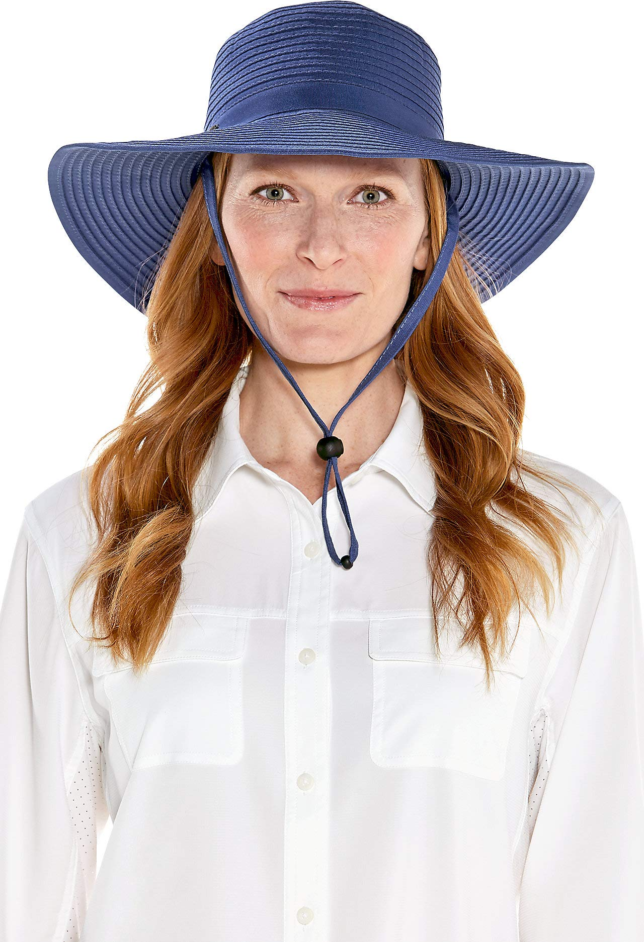 Coolibar UPF 50+ Women's Shapeable Travel Sun Hat - Sun Protective (One Size- Empire Blue)