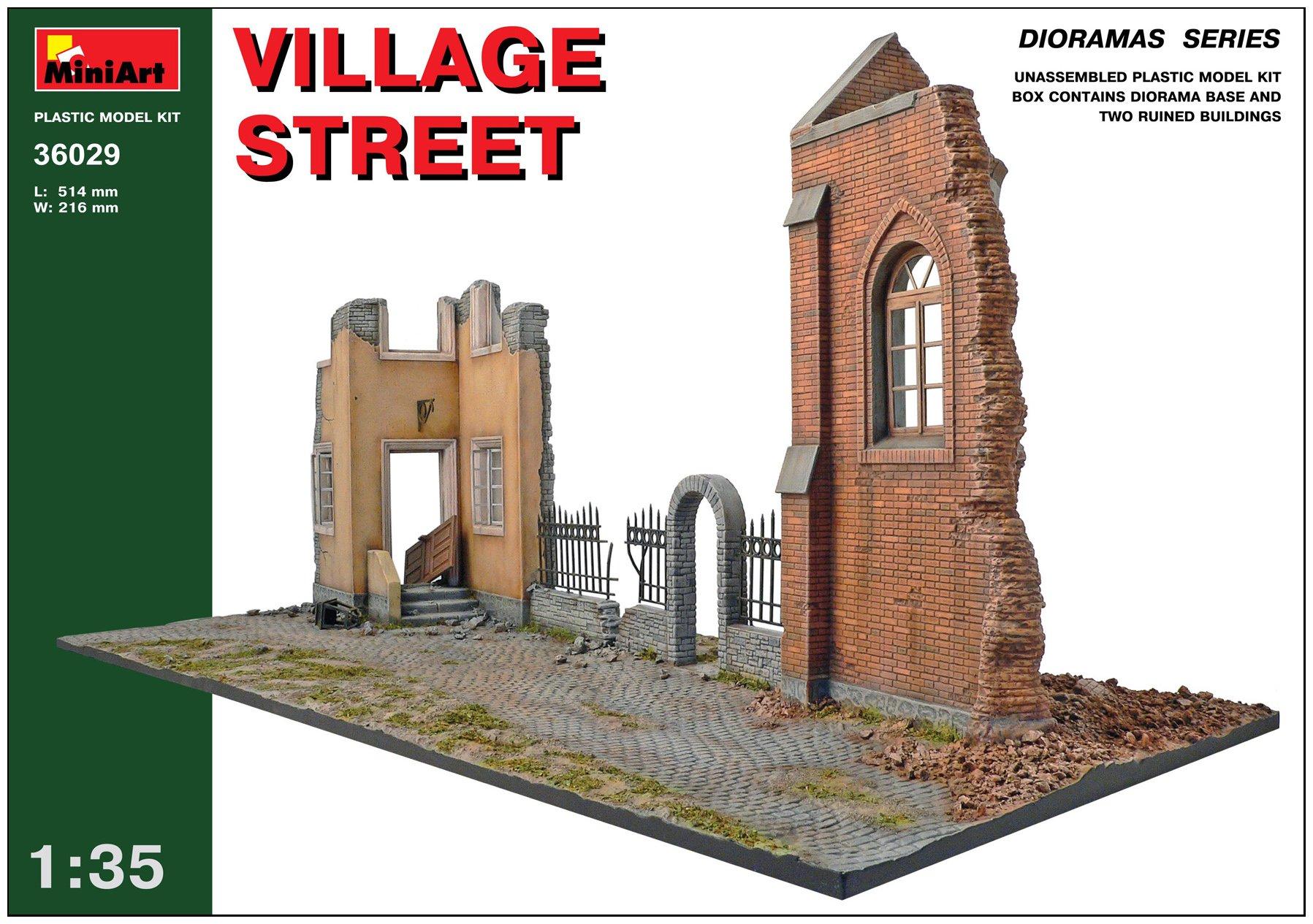 Mini Art Plastics Village Street