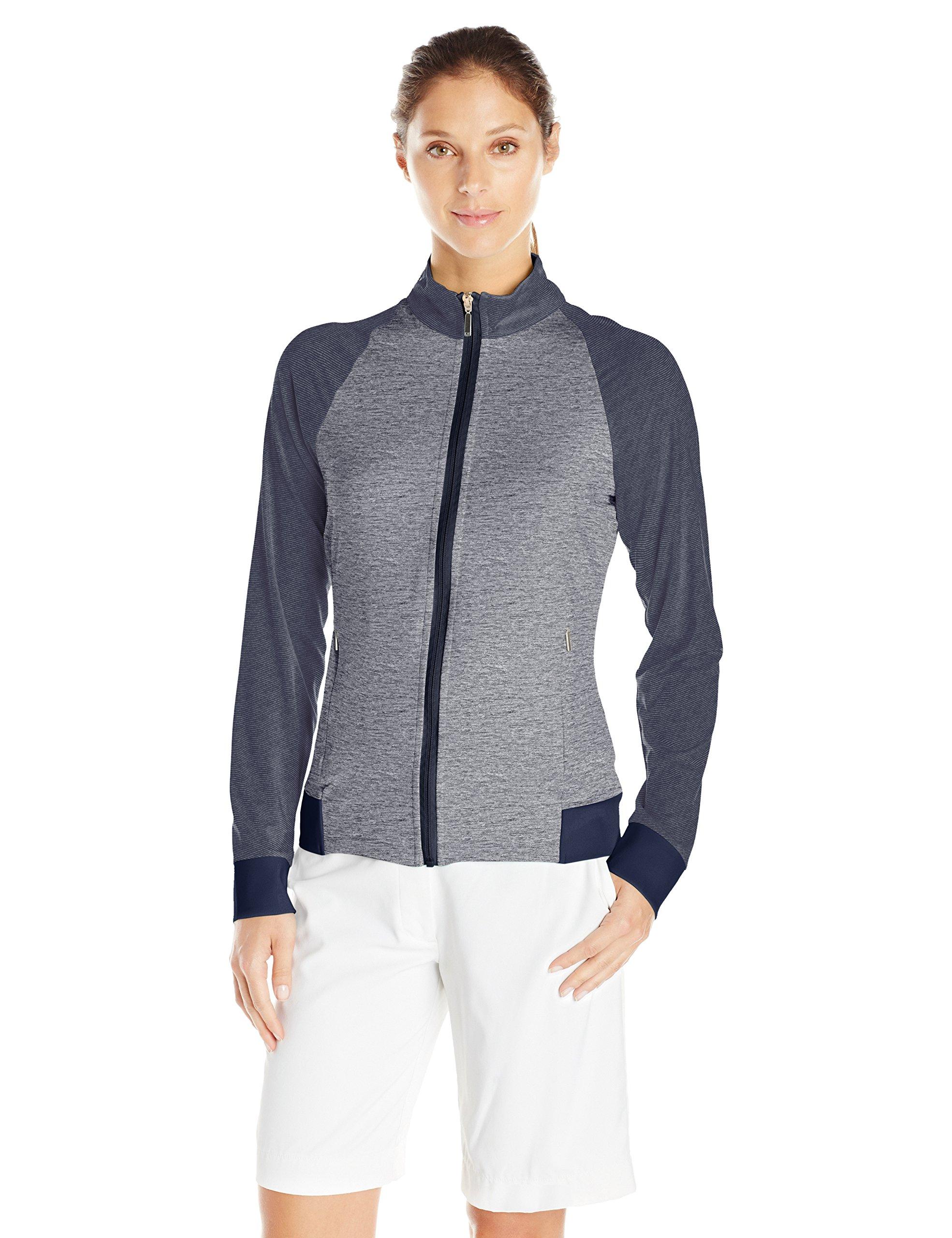 Cutter & Buck Women's Moisture Wicking, UPF 50+, Long-Sleeve Lena Full Zip Jacket, Liberty Navy, XS