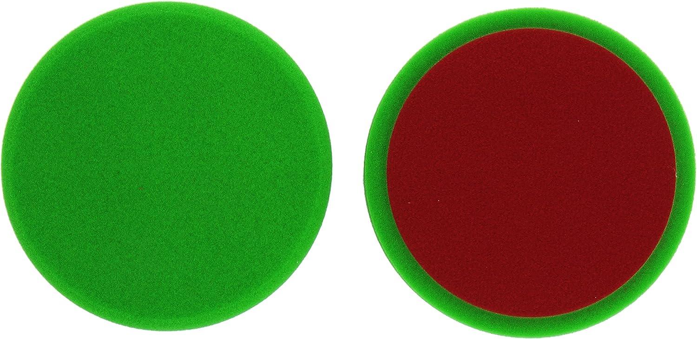 Alclear 5516030g Ceramic Cutting Pad Auto Polierschwämme Durchmesser 160x30 Mm Grün 2er Set Polierpad Polieren Pad Schwamm Polierschaum F Poliermaschine Auto