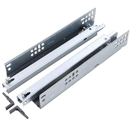 SDPAWA Concealed Drawer Slides 10-Inch Mute Damping Buffer Soft Self  Closing Bottom Mount Undermount Hidden Drawer Sliding Rails 1 Pair