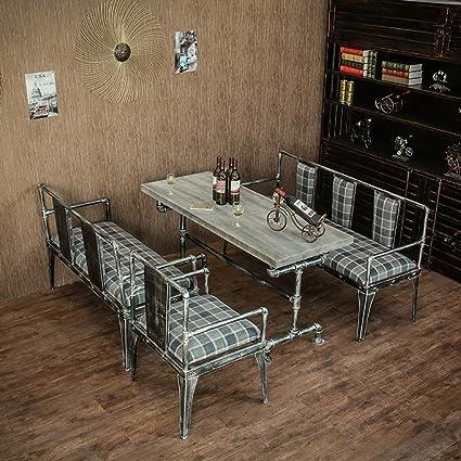 Amazon Com Qianniu Industrial Dining Bistro Patio Bar Coffee Table