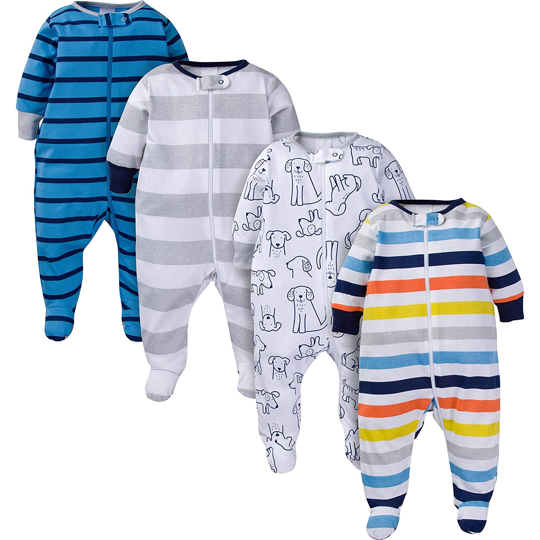 Onesies Brand Baby Boys 4-Pack Sleep N' Play