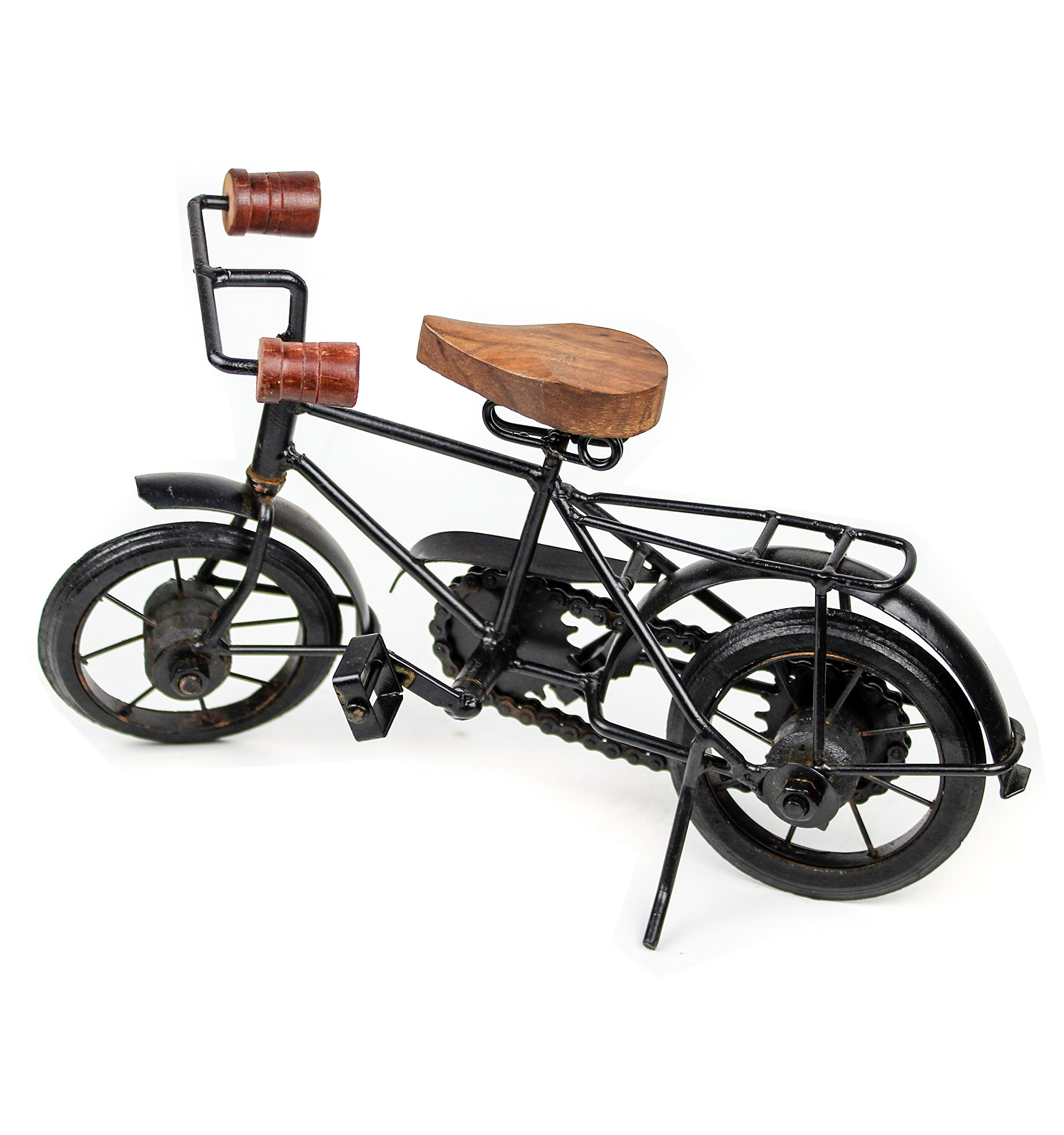 Nagina International Home Decor Iron Metal Crafted Beautiful Finger Bike   Table Decor Gifts Vehicle   Games Toy Cycle (Postman) by Nagina International (Image #1)