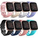 Tobfit Multi-Pack Compatible with Fitbit Versa 2/Versa/Versa Lite/Versa SE, Soft TPU Sport Bands Wristbands Accessories for Women Men