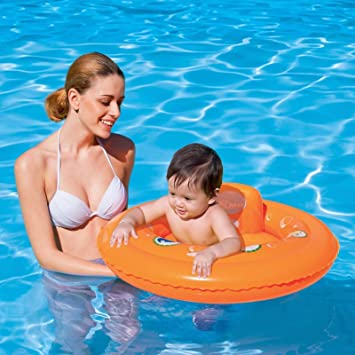 Baby Float Swim Seat Support Pool Inflatable Aid Ring Pool 0-1 Yrs