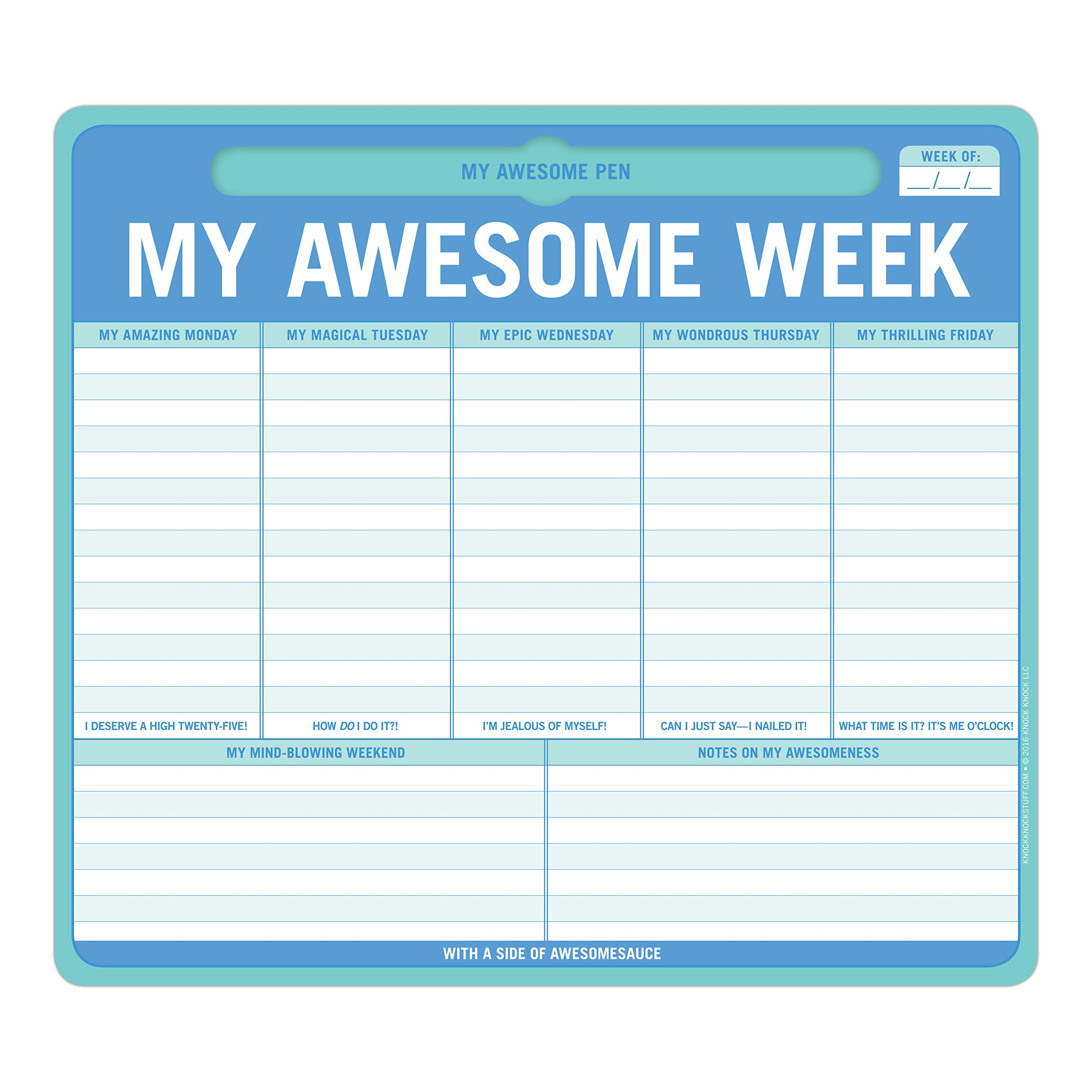 Knock Knock My Awesome Week Pen To Paper Mousepad Amazon Co Uk